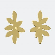 Sara Miller Falling Leaf Gold Stud Earrings