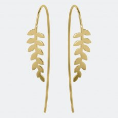 Sara Miller Gold Leaf Falling Earrings