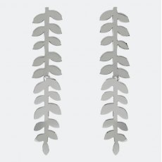 Sara Miller Trailing Silver Leaf Drop Earrings