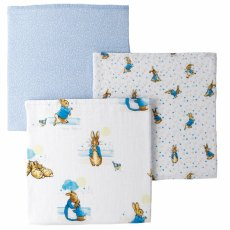 Peter Rabbit Muslin Squares S/3