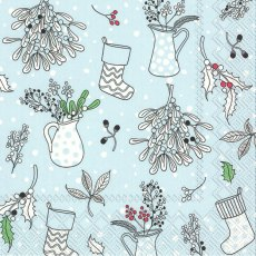 Julia Blue Christmas Napkins (Pack of 20)
