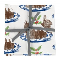 Christmas Pudding S/4 Napkins