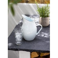 White Enamel Water Pitcher