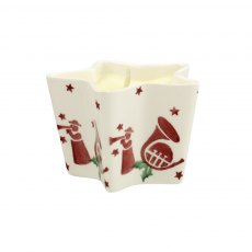 Emma Bridgewater Joy Trumpets Small Star Candle