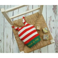 Blade & Rose Cream & Red Stripe Christmas Hat 0-12 Months