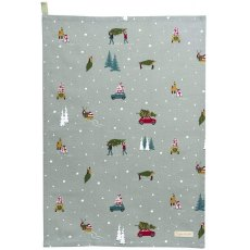 Sophie Allport Home for Christmas Tea Towel