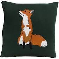 Sophie Allport Foxes Knitted Statement Cushion