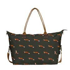 Sophie Allport Foxes Oilcloth Oundle Weekend Bag