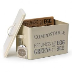 Compost Food Waste Bin - Jersey Cream