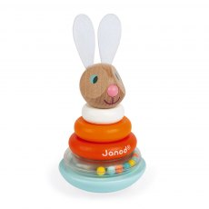 Janod Lapin Stackable Roly-Poly Rabbit (Wood)
