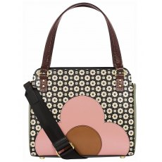 Orla Kiely Jeanette Black & Cream Bowler Bag