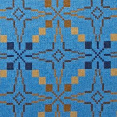 Melin Tregwynt Vintage Star Blanket Blue Single 180x200cm
