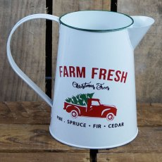 Christmas Jug With Farm Fresh Print