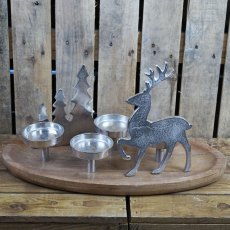 Christmas Tree & Reindeer Tealight Centerpiece