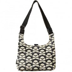Orla Kiely Spring Bloom Matt Laminated Mini Sling Bag - Charcoal