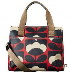 Orla Kiely Spring Bloom Small Zip Messenger Bag - Poppy