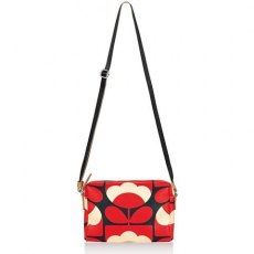 Orla Kiely Spring Bloom Small Crossbody Bag - Poppy