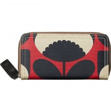 Orla Kiely Spring Bloom Big Zip Wallet - Poppy