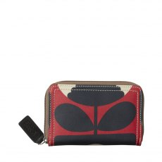 Orla Kiely Spring Bloom Medium Zip Wallet - Poppy