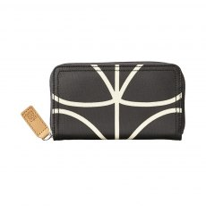 Orla Kiely Classic Giant Linear Stem Medium Zip Wallet