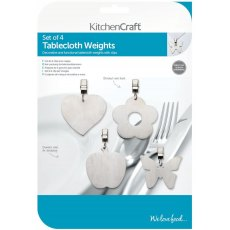 KitchenCraft Stainless Steel Table Cloth Weights Set Of 4
