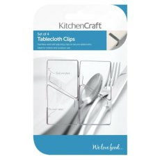KitchenCraft Stainless Steel Table Cloth Clips