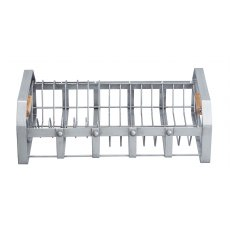 KC Anti Rust Wire & Mango Wood Dish Drainer