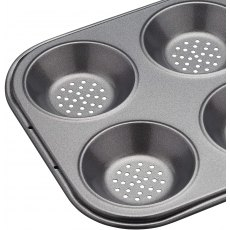 MasterClass Crusty Bake Non-Stick Six Hole Shallow Baking Pan