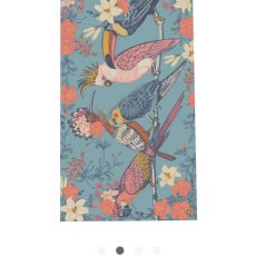 Powder Tropical Birds Print Scarf
