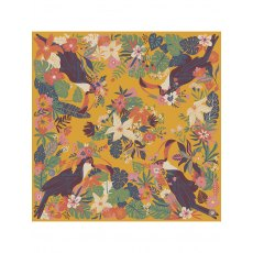Powder Toucan Print Satin Square