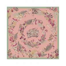 Powder Floral Hedgehog Satin Square