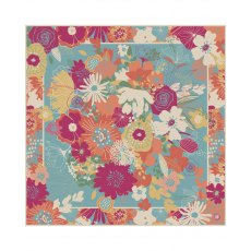 Powder Modern Floral Satin Square