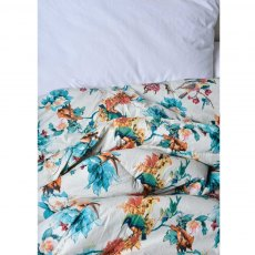 Turquoise Hummingbird Double Quilted Throw
