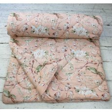 Peach Blossom Double Quilted Throw