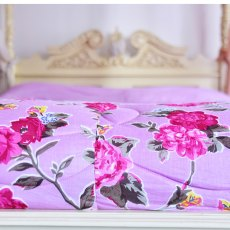 Lilac Rose Double Quilted Throw