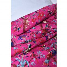 Hot Pink Birds Double Quilted Throw