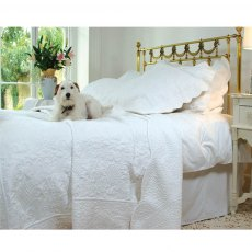 Grace White Single Quilted Bedspread