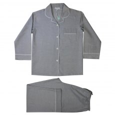 Powell Craft Grey Linen Pyjamas