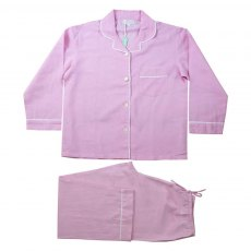 Powell Craft Pink Linen Pyjamas