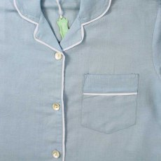 Powell Craft Sky Blue Linen Pyjamas