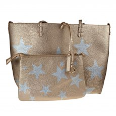 Kris Ana Reversible Tote Bag Gold/Silver