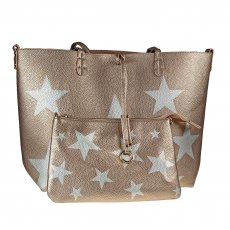 Kris Ana Reversible Tote Bag Rose Gold/Pink