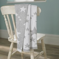 Walton & Co Stars Baby Blanket Grey 75x100cm
