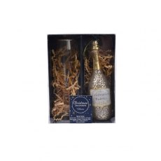 Glass Champagne Figure Gift Set