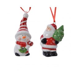 Dol Christmas Figures With Hanger 2 Assorted
