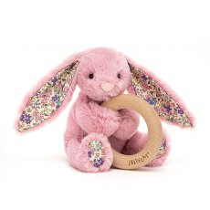 Jellycat Blossoom Tulip Bunny Wooden Ring Toy