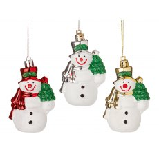 Hanging Snowman Tree Trim 3asstd