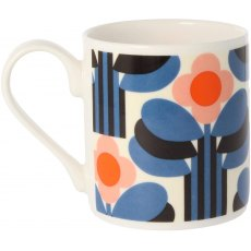 Orla Kiely Orange Art Deco Print Mug