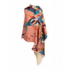 Powder Watercolour Stag Luxurious Print Scarf
