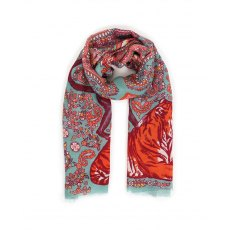 Powder Paisley Tiger Scarf
